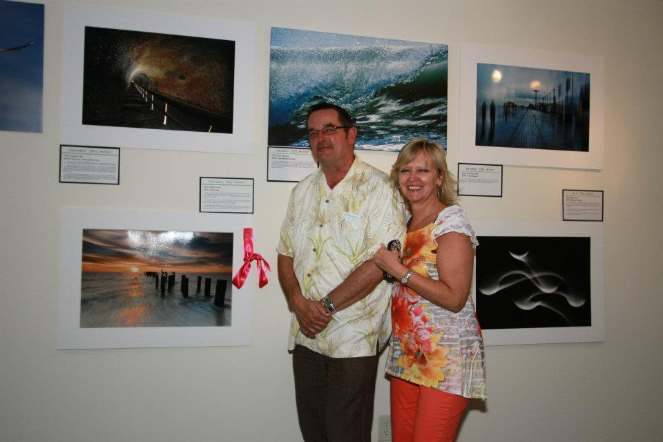 "Mike Lang with his winning entry ""Naples Sunset"""