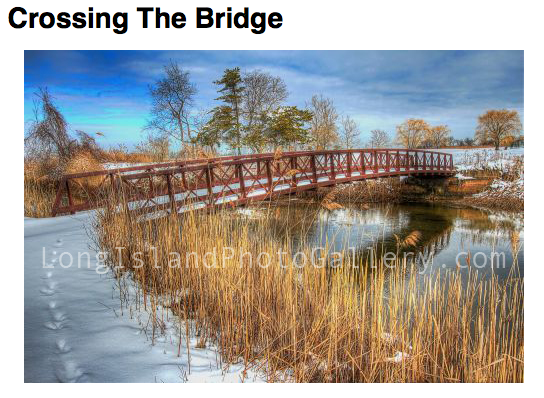 Crossing the Bridge by Valerie DeBiase