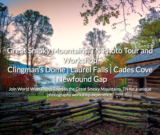 Join the Smoky Mountain National Park Photo Tour!