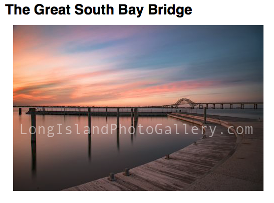 """The Great South Bay Bridge"" Photographer: Brian Cozzie"