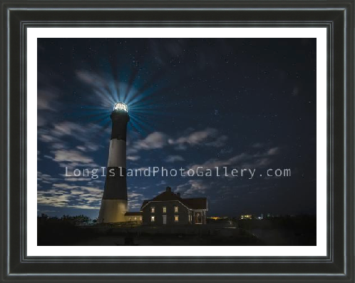 Fire Island Lighthouse at night