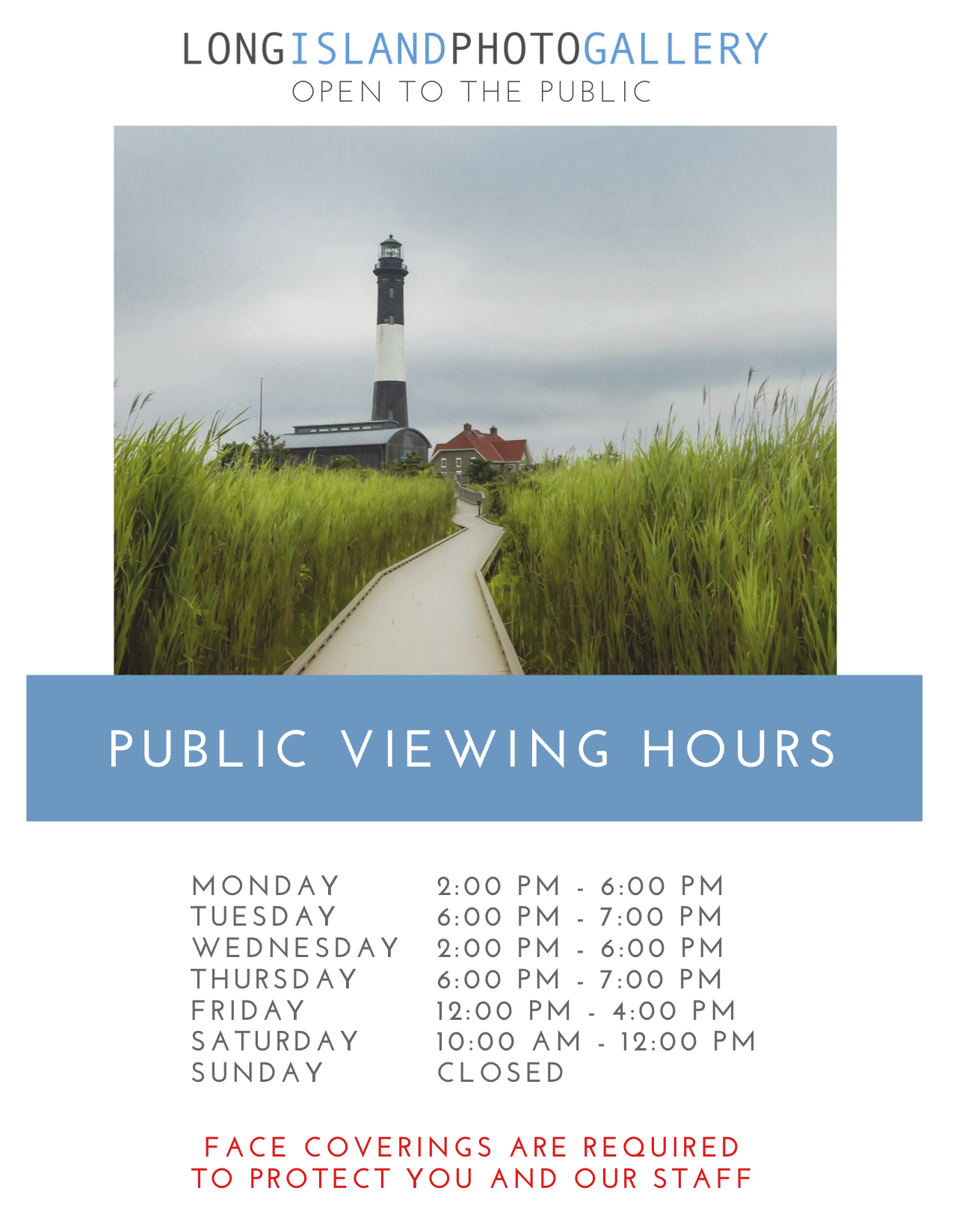 Please come in a browse, shop, and help to support local artists. Long Island Photo Gallery is always open to the general public and is committed to representing award-winning professional and emerging artists in photography.