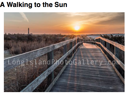 A Walking to the Sun by Susan Knappe