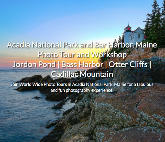 Join the Acadia National Park Tour!
