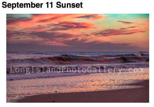 """September 11 Sunset"" Photographer: Pamela Morrison Location:Pikes Beach Westhampton"