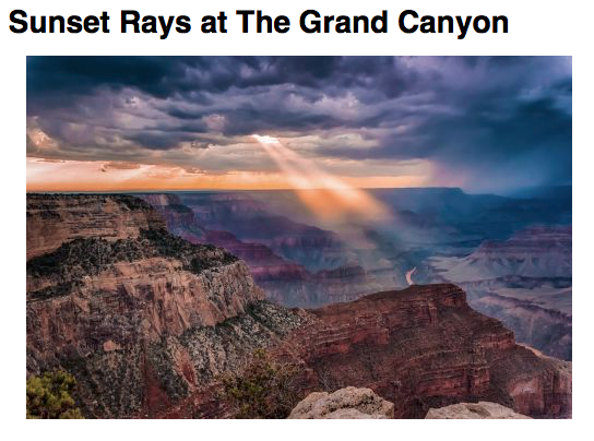 Photographer: Alissa Rosenberg Location: Grand Canyon, Colorado, USA