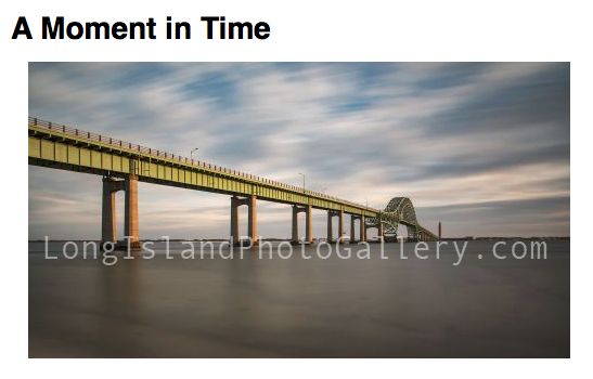 Photographer: Brian Cozzie Title: A Moment In Time