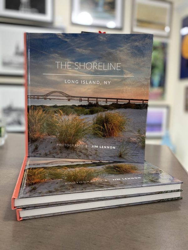 """The Shoreline by Jim Lennon is a 196 Page 10' x 10"""" Hardcover Book of Coastal scenes from along the Shores of Long Island, N.Y."""